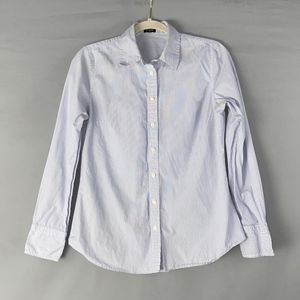 J. Crew Blue and White Striped Button Down Shirt
